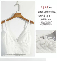 Vest sling Summer 2020 white S,M,L singleton  have cash less than that is registered in the accounts Self cultivation Sweet camisole Solid color cotton
