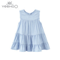 Dress YRLFJ21215A01 female Yeehoo / English 100cm,90cm,80cm,73cm,66cm Other 100% summer leisure time Skirt / vest Solid color other A-line skirt YRLFJ21215A01 Class A 12 months, 9 months, 6 months, 18 months, 2 years old, 3 years old, 4 years old, 5 years old, 6 years old, 7 years old
