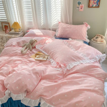 Bedding Set / four piece set / multi piece set cotton other Plants and flowers 133x72 Maggie girl / Maggie girl cotton 4 pieces 40 Polka pink and blue, Polka yellow and green, Polka gray and yellow, Polka blue and pink Bed sheet, bed skirt Qualified products 100% cotton