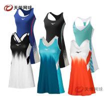 Tennis clothes female Black 62gh121501, blue 62gh121522, orange 62gh121554, 62gh071521, 62gh071524, white dress, blue dress, green dress, black dress XS,S,M,L,XL Mizuno / MIZUNO Dress 62GA071001 polyester fiber