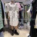 Dress Spring 2021 White, light blue S, M Mid length dress Single breasted SJYP