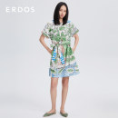Dress Spring 2021 White + blue 155/76A/XS 155/80A/S 160/84A/M 165/88A/L 170/92A/XL 175/96A/XXL Middle-skirt singleton  Short sleeve commute Crew neck High waist other Socket other other Others 25-29 years old Type X Erdos / Ordos lady pocket E215I3064 81% (inclusive) - 90% (inclusive) cotton