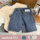 skirt 100cm , 110cm , 120cm , 130cm , 90cm Yantian denim skirt , Yantian denim skirt second batch The Little Avery female Cotton 98% polyurethane elastic fiber (spandex) 2% summer skirt princess Solid color Denim skirt cotton
