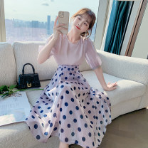 skirt Summer 2021 S,M,L,XL Picture color Mid length dress Versatile Natural waist other Dot Type A 18-24 years old KK - eight thousand nine hundred and four 31% (inclusive) - 50% (inclusive) other Other / other cotton printing 401g / m ^ 2 (inclusive) - 500g / m ^ 2 (inclusive)