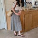 skirt Summer 2021 Average size Black, grey, pink Mid length dress commute Natural waist other Broken flowers Type H 18-24 years old 6028% 30% and below Honey rain Korean version