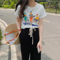 T-shirt Band, little angel S, M Spring 2021 Short sleeve Crew neck easy Regular routine commute other 30% and below 18-24 years old Korean version youth Honey rain 7569%
