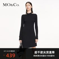 Dress Summer 2020 black XS/155 S/160 M/165 L/170 XL/175 Mid length dress singleton  Long sleeves street Solid color Socket 25-29 years old MO & Co. / Moco MBO3DRSX12 More than 95% wool Wool 100% Same model in shopping mall (sold online and offline) Europe and America