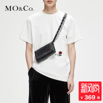 T-shirt This book is white and black XS/155S/160M/165L/170XL/175 Autumn of 2018 Short sleeve Crew neck Regular routine street 25-29 years old MO & Co. / Moco MT183TEE203 Cotton 100% Same model in shopping mall (sold online and offline) Europe and America
