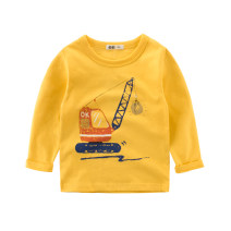 T-shirt 3529b off white, 3529c golden 27KIDS 90cm,100cm,110cm,120cm,130cm,140cm neutral spring and autumn Long sleeves Crew neck leisure time No model nothing cotton Cartoon animation Class A other