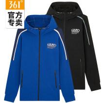 Sportswear / Pullover S/165,M/170,L/175,XL/180,2XL/185,3XL/190 361° male Cardigan Hood Autumn 2020 Letter, brand logo polyester fiber run Running series zipper