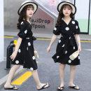 Dress female Other / other 110cm,120cm,130cm,140cm,150cm,160cm Cotton 95% polyester 5% summer Korean version Short sleeve Dot cotton Princess Dress Class B 14, 9, 12, 7, 8, 6, 13, 11, 10 Chinese Mainland Guangdong Province Foshan City