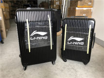suitcase Ling / Li Ning China one thousand nine hundred and ninety-nine For men and women Medium size 26 inch 45 * 28 * 67cm large size 30 inch 50 * 34 * 72cm large size 30 inch same size 50 * 34 * 72cm inspection before signing Self driving tour Fashion trend yes Universal wheel built-in