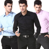 shirt Business gentleman G2000 38 = 14.5 (165 / 92a), 39 = 15 (170 / 96a), 40 = 15.5 (170 / 96a), 41 = 16 (175 / 100a), 42 = 16.5 (175 / 100a), 43 = 17 (180 / 104a), 44 = 17.5 (180 / 104a) routine square neck Long sleeves Self cultivation go to work autumn youth Simplicity in Europe and America 2019