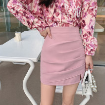 skirt Spring 2021 S,M,L,XL Black, leopard print, pink Short skirt commute High waist skirt other Type H 18-24 years old 30% and below other Other / other Korean version