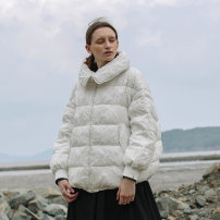 Down Jackets Autumn of 2019 Semicircle white S,M,L White duck down 90% routine Long sleeves routine Single breasted commute routine Self cultivation Decor Q1921070Y 150g (including) - 200g (excluding) Retro 25-29 years old 96% and above