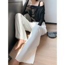 Casual pants White (explicit deduction), white (implicit deduction) S, M Summer 2021 trousers Wide leg pants High waist commute routine 25-29 years old 96% and above LD-2114 Korean version pocket Viscose