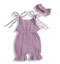 Jumpsuit / climbing suit / Khaki Other / other Class B neutral 80cm,90cm,100cm,110cm,70cm Pure cotton (100% content) summer Sleeveless Long climb Europe and America No model nothing Cotton 100% Lace up 3 months, 6 months, 12 months, 9 months