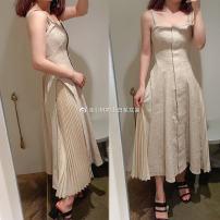 Dress Summer of 2019 White SK, black SK, beige sk S [YC customer supplied cotton and hemp, high definition version], m [YC customer supplied cotton and hemp, high definition version] S-LBLB-S 19205-SWFO192013