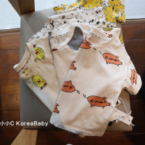 T-shirt Other / other 73cm,80cm,90cm,100cm,110cm,120cm neutral summer Short sleeve Crew neck Korean version No model nothing cotton other Cotton 99% other 1% T021 Sweat absorption 12 months, 9 months, 18 months, 2 years old, 3 years old, 4 years old, 5 years old, 6 years old