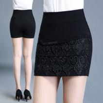 Casual pants black 20 / M (2 foot waist), 21 / L (2 foot 1 waist), 22 / XL (2 foot 2 waist), 23 / 2XL (2 foot 3 waist), 24 / 3XL (2 foot 4 waist), 25 / 4XL (2 foot 5 waist), 26 / 5XL (2 foot 6 waist), 27 / 6xl (2 foot 7 waist) Autumn of 2019 shorts Straight pants High waist Versatile routine WW8802