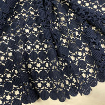 Fabric / fabric / handmade DIY fabric cotton Deep navy (1 meter price) Loose shear rice Solid color other clothing Europe and America 71% (inclusive) - 80% (inclusive)