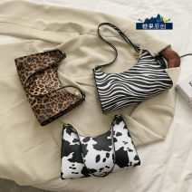 Bag The single shoulder bag PU Small square bag Mesroti brand new Japan and South Korea Small leisure time soft zipper no Animal design Single root One shoulder hand nothing youth Square box Sewing Handling handle PU leather