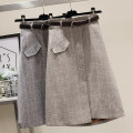 skirt Winter 2020 XS,S,M,L,XL Grey, brown Mid length dress commute High waist A-line skirt lattice Type A 25-29 years old 31% (inclusive) - 50% (inclusive) Korean version