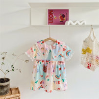 Dress colour female Other / other 90cm,100cm,110cm,120cm,130cm,140cm Cotton 90% other 10% summer princess Short sleeve Cartoon animation Chiffon other 12 months, 3 years, 3 months, 18 months, 9 months, 6 months, 2 years, 4 years Chinese Mainland