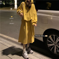 Fashion suit Spring 2021 Average size Milk yellow, fruit green 18-25 years old 30% and below