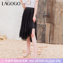 skirt Summer 2021 155/S/36 160/M/38 165/L/40 Black (W1) longuette Retro High waist Pleated skirt Type A 25-29 years old KABB333Q73 More than 95% Lagogo / Lagu Valley polyester fiber Splicing Polyester 100% Same model in shopping mall (sold online and offline)