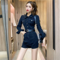 Casual pants Blue, black S,M,L Winter 2020 shorts High waist commute routine 18-24 years old A12.12-15 Korean version
