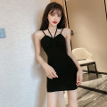 Dress Spring 2021 black Average size Short skirt singleton  Sleeveless commute High waist Solid color camisole 18-24 years old Korean version A3.4-6