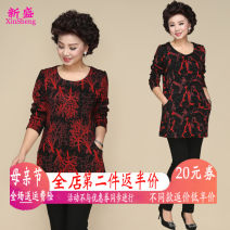 Middle aged and old women's wear Winter of 2018 pachira macrocarpa fashion Knitwear / cardigan easy singleton  Decor 40-49 years old Socket moderate Crew neck Medium length routine XS18Dj357 Xinsheng pocket polyester Other polyester 95% 5% 91% (inclusive) - 95% (inclusive)