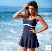 one piece  Other / other Skirt one piece With chest pad without steel support spandex female Sleeveless Casual swimsuit
