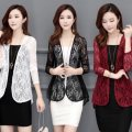 Lace / Chiffon Spring 2021 M,L,XL,2XL,3XL Long sleeves Cardigan singleton  Self cultivation Regular routine Lace