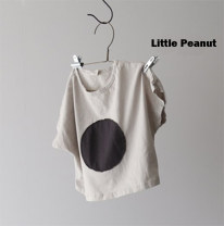 T-shirt Other / other 80cm,90cm,100cm,110cm,120cm neutral summer Short sleeve Crew neck Korean version nothing cotton Dot Cotton 100% 3 years old
