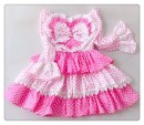 Dress Summer of 2019 Pink dots S,M,L Short skirt singleton  Long sleeves Sweet One word collar High waist Dot zipper Princess Dress Princess sleeve Others Type A 91% (inclusive) - 95% (inclusive) cotton Countryside