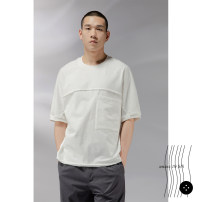 T-shirt Youth fashion white thin S,M,L,XL,XS Unlimited non cycle Short sleeve Crew neck easy daily summer