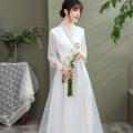 Hanfu 96% and above Summer 2020 white S M L XL XXL polyester fiber
