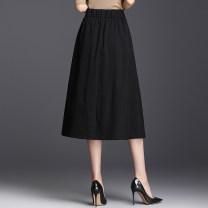 skirt Summer 2021 T0 is suitable for 90-109 waist 1.9-2.0 feet, T12 is suitable for 110-125 waist 2.1-2.2 feet, T34 is suitable for 125-140 waist 2.3-2.4 feet, T56 is suitable for 141-158 waist 2.5-2.6 feet Black, khaki, black (spring and Autumn) Mid length dress commute High waist A-line skirt N202