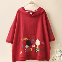 T-shirt Black, red, white Other / other M,L,XL,2XL,3XL,4XL female summer Short sleeve Cartoon ds94483237353 2 years old