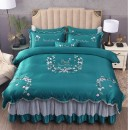 Bedding Set / four piece set / multi piece set Others Embroidery others Plants and flowers 133x72 Lydia / Lydia cotton 4 pieces 40 Sheet bed skirt bedspread others Superior products Princess style 100% cotton twill Reactive Print  XD_ vQUvW_ 7omv4xav