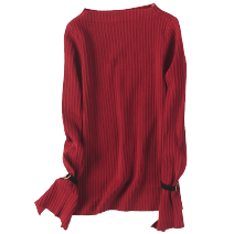 Wool knitwear Spring 2021 Average size 1 red, 2 Army Green Long sleeves singleton  Socket other 31% (inclusive) - 50% (inclusive) Regular routine Self cultivation One word collar routine Solid color Socket 25-29 years old World works