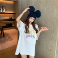 T-shirt white Average size Spring 2021 Long sleeves Crew neck easy Regular routine commute other 96% and above 18-24 years old Korean version youth Solid color GW-SS6182 Button
