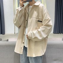 shirt Youth fashion Others M,L,XL,2XL Grey, black, khaki routine square neck Long sleeves easy Other leisure autumn teenagers Other 100% tide 2020 Solid color No iron treatment cotton other