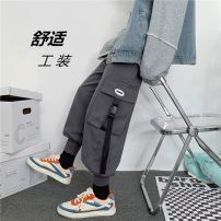 Casual pants Mr. Sen Youth fashion Grey, black, khaki S,M,L,XL,2XL,3XL Plush and thicken trousers Other leisure easy Micro bomb winter teenagers tide 2020 middle-waisted Other 100% Overalls Solid color other