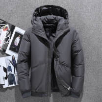 Down Jackets black Jeep shield White duck down M,L,XL,2XL,3XL Youth fashion Home have cash less than that is registered in the accounts thickening 90% DM7804 Hood Wear out youth Youthful vigor Closing sleeve Solid color 2019 No iron treatment Coated fabric
