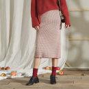 skirt Autumn of 2019 S, M Red birch, black birch Mid length dress Versatile High waist skirt Type H Q_ 1923W Mdhj / magic mirror