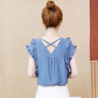 Lace / Chiffon Summer 2021 Blue 8131 XS [about 75-85 kg recommended], s [about 85-95 kg recommended], m [about 95-105 kg recommended], l [about 105-115 kg recommended], XL [about 115-125 kg recommended], 2XL [about 125-140 kg recommended], 3XL [about 140-155 kg recommended] Short sleeve other Socket