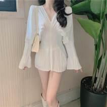 Dress Autumn 2020 white S,M,L Short skirt singleton  Long sleeves commute other High waist other other other other Others 18-24 years old Type A Other / other Korean version 31% (inclusive) - 50% (inclusive) other other